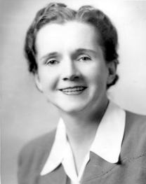 Black and White Portrait of Rachel Carson