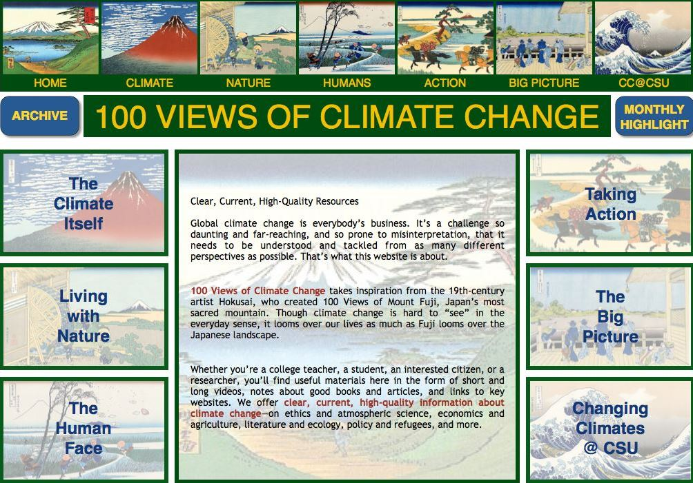 website  u2013 100 views of climate change